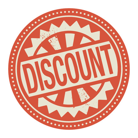 special service: Abstract stamp or label with the text Discount written inside