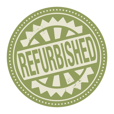 repaired: Abstract stamp or label with the text Refurbished written inside