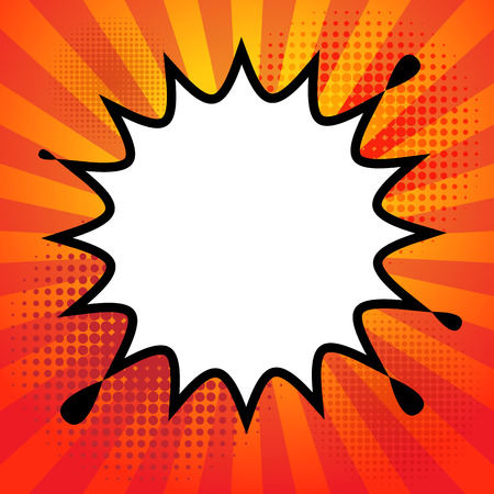 Comic book explosion abstract Vector