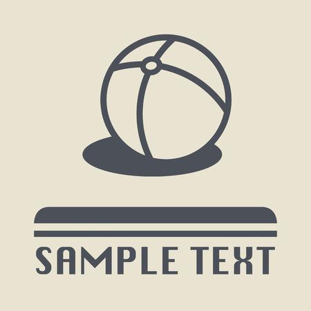 balon voleibol: Icono de la bola de playa o signo
