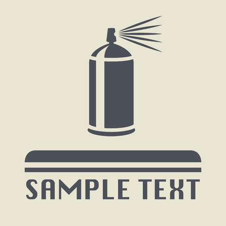 Spray can icon or sign Illustration