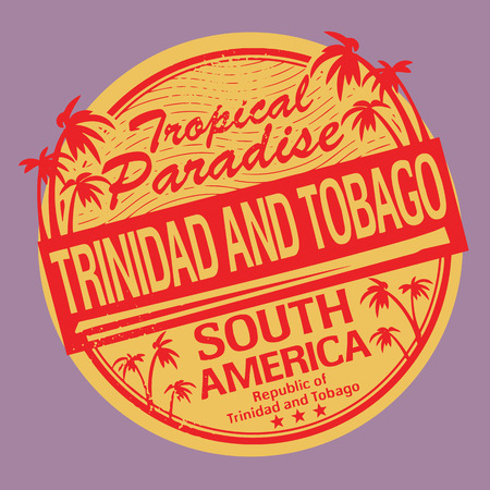 Grunge rubber stamp or label with the name of Trinidad and Tobago Vector