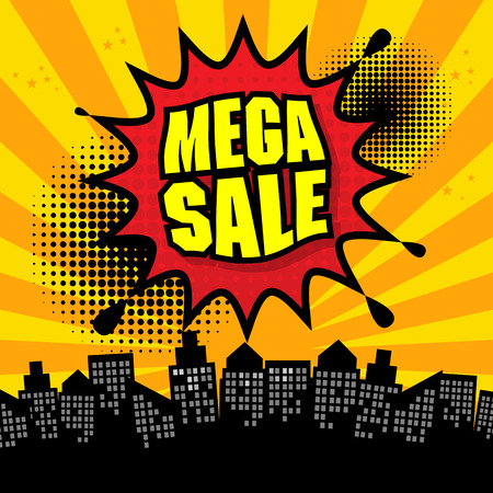Mega sale design Vector