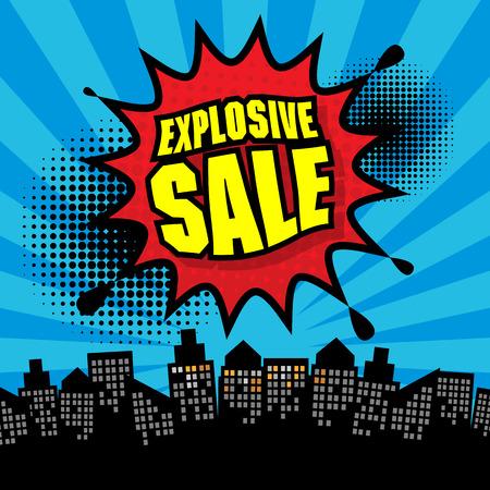 Explosive sale design Vector
