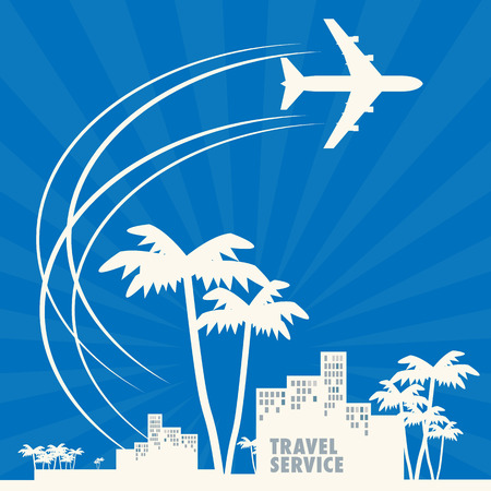 Travel agency abstract Vector