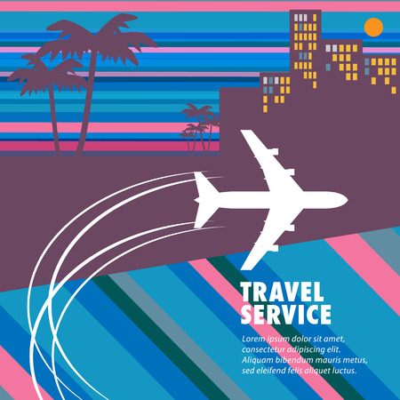 agency: Travel agency abstract background