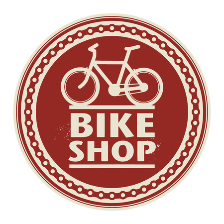 Label or stamp with text Bike Shop Vector