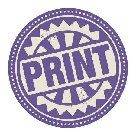 printing business: Abstract stamp or label with the text Print written inside Illustration