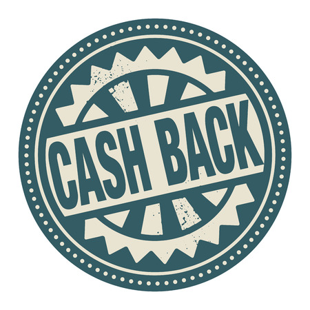 Abstract stamp or label with the text Cash Back written inside Vector