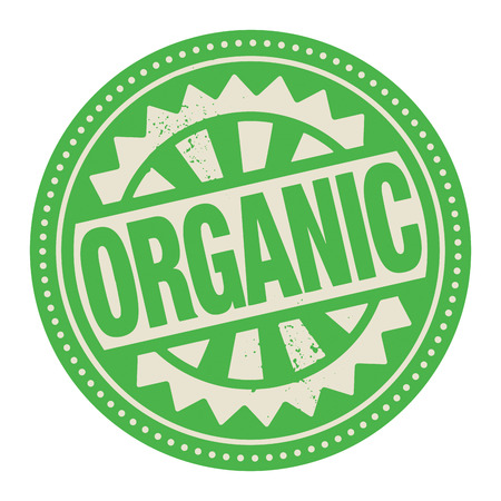 Abstract stamp or label with the text Organic written inside Stock Vector - 26787865