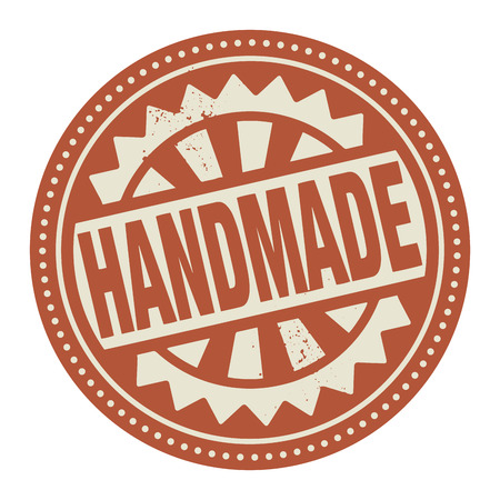 home products: Abstract stamp or label with the text Handmade written inside