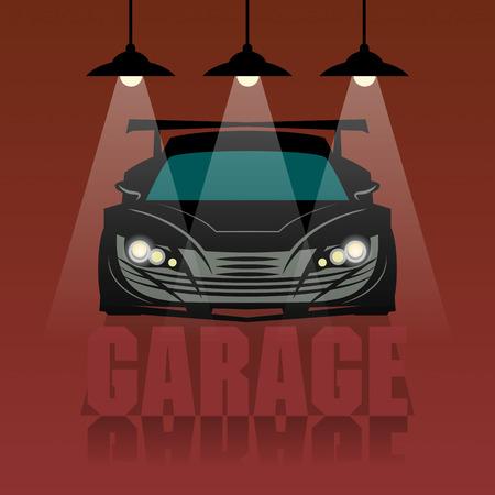 in tune: Race garage background