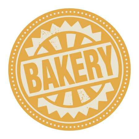 baker's: Abstract stamp or label with the text Bakery written inside