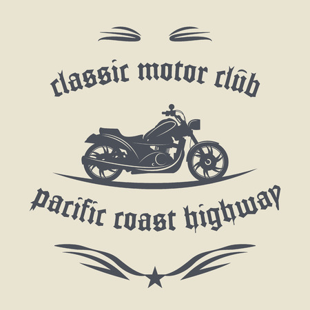 motocycle: Vintage Motorcycle label