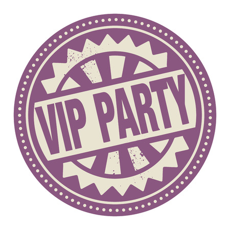 Abstract stamp or label with the text VIP Party written inside Stock Vector - 26934636