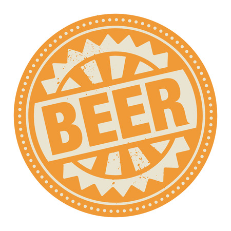 Abstract stamp or label with the text Beer written inside Vector