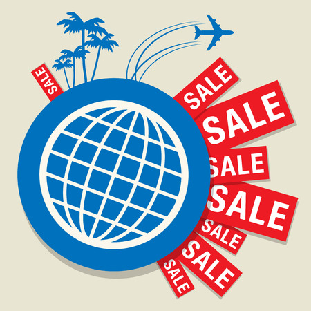 Travel Sale abstract design Vector