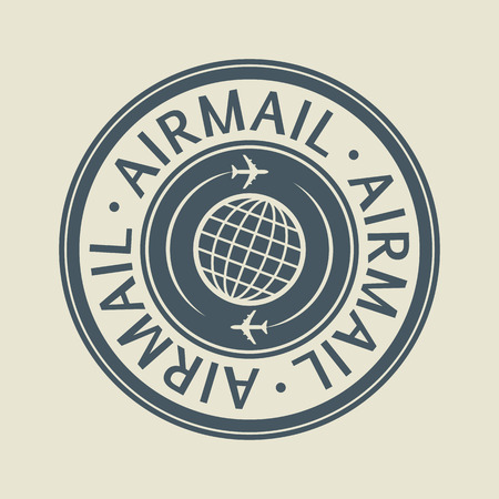 Air Mail sign or label Vector