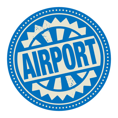 Abstract stamp or label with the text Airport written inside