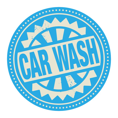 ink and wash: Abstract stamp or label with the text Car Wash written inside