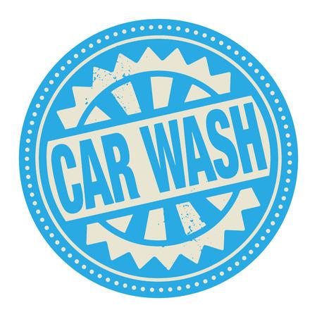 autolavado: Sello Abstract o etiqueta con el texto escrito en su interior Car Wash Vectores