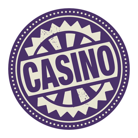 Abstract stamp or label with the text Casino written inside Vector