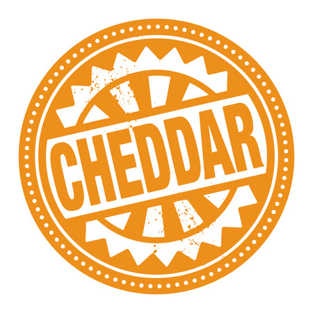 cheddar: Abstract stamp or label with the text Cheddar written inside