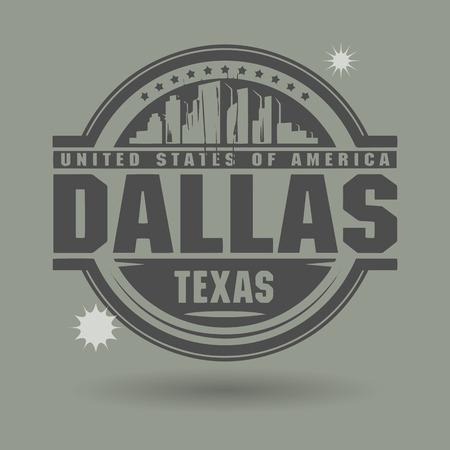 Stempel of label met tekst Dallas, Texas binnen