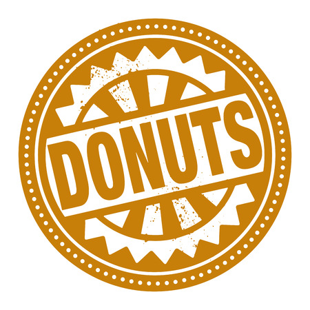 Abstract stamp or label with the text Donuts written inside Vector