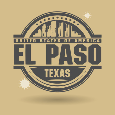 Stamp or label with text El Paso, Texas inside Vector