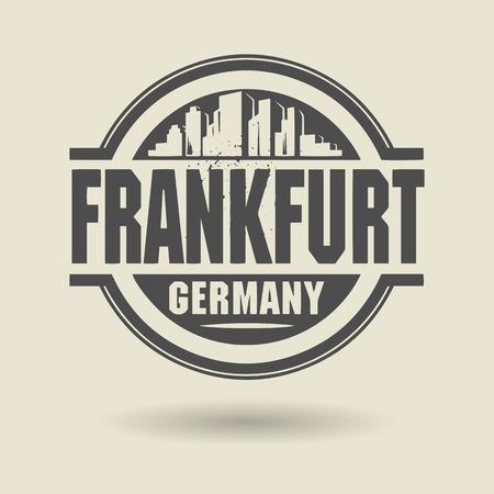 frankfurt germany: Stamp or label with text Frankfurt, Germany inside