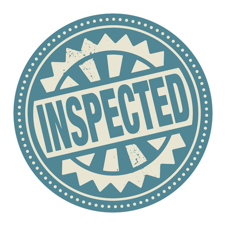 inspected: Abstract stamp or label with the text Inspected written inside