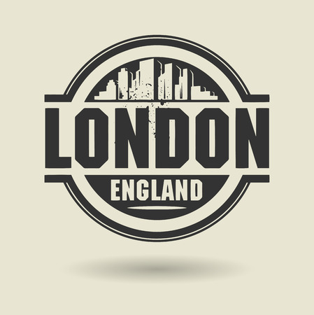 Stamp or label with text London, England inside Vector