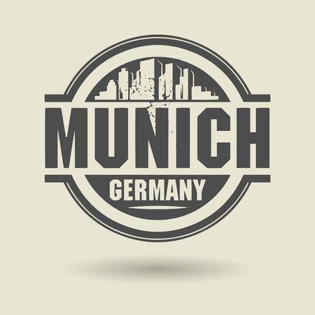 m�nchen: Stempel of het etiket met tekst München, Duitsland binnen Stock Illustratie