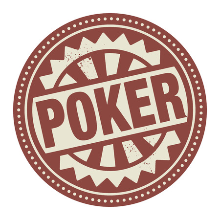 Abstract stamp or label with the text Poker written inside Vector