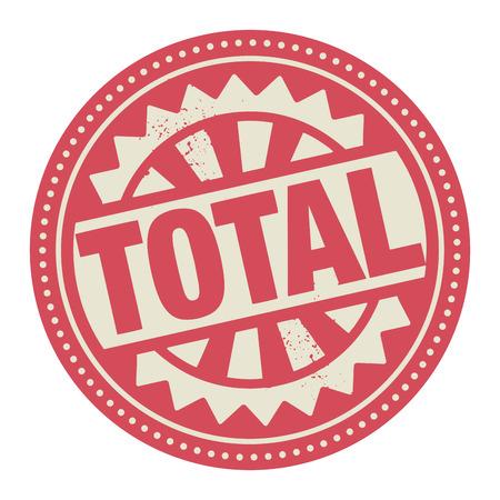 totales: Sello Abstract o etiqueta con el texto escrito en su interior total Vectores