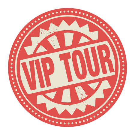 Abstract stamp or label with the text Vip Tour written inside