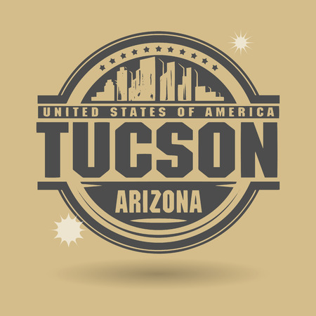 tuscon: Stamp or label with text Tuscon, Arizona inside