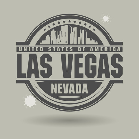 Stamp or label with text Las Vegas, Nevada inside Vector