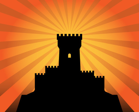 citadel: Castle abstract background