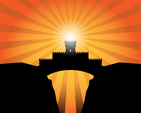 Castle abstract background Vector