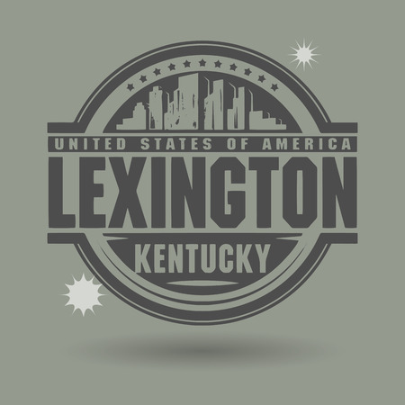 kentucky: Stamp or label with text Lexington, Kentucky inside