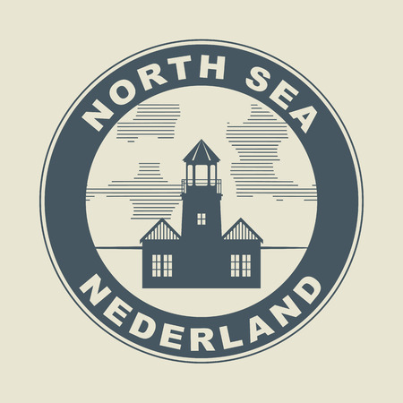 Stamp or label with word Nederland  Netherlands  inside Vector