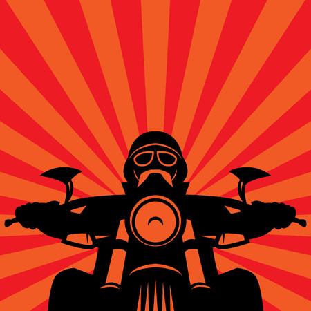 casco moto: Etiqueta de la raza de la motocicleta de la vendimia