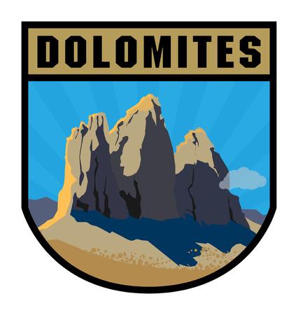 Mountain adventure label Illustration