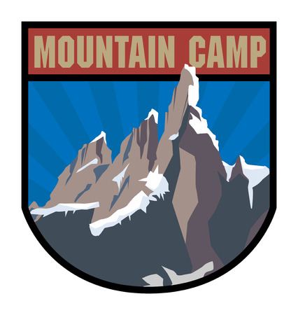 Mountain camp label Vector