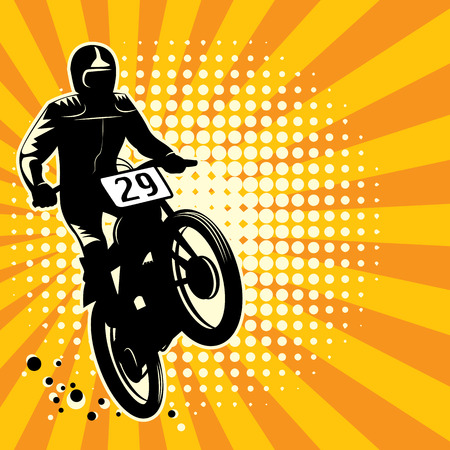 Abstract motocross background