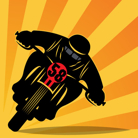 Vintage Motorcycle race background