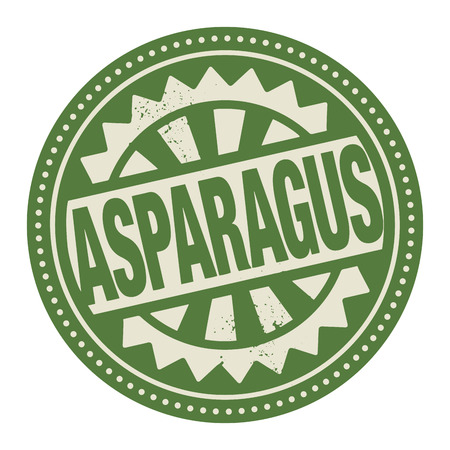Abstract stamp or label with the text Asparagus written inside Vector