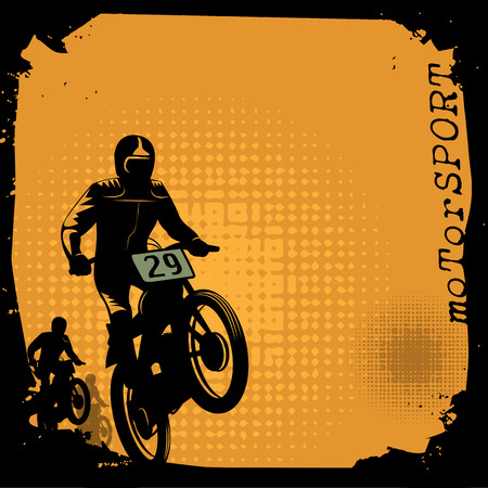 off road vehicle: Motocross background Illustration